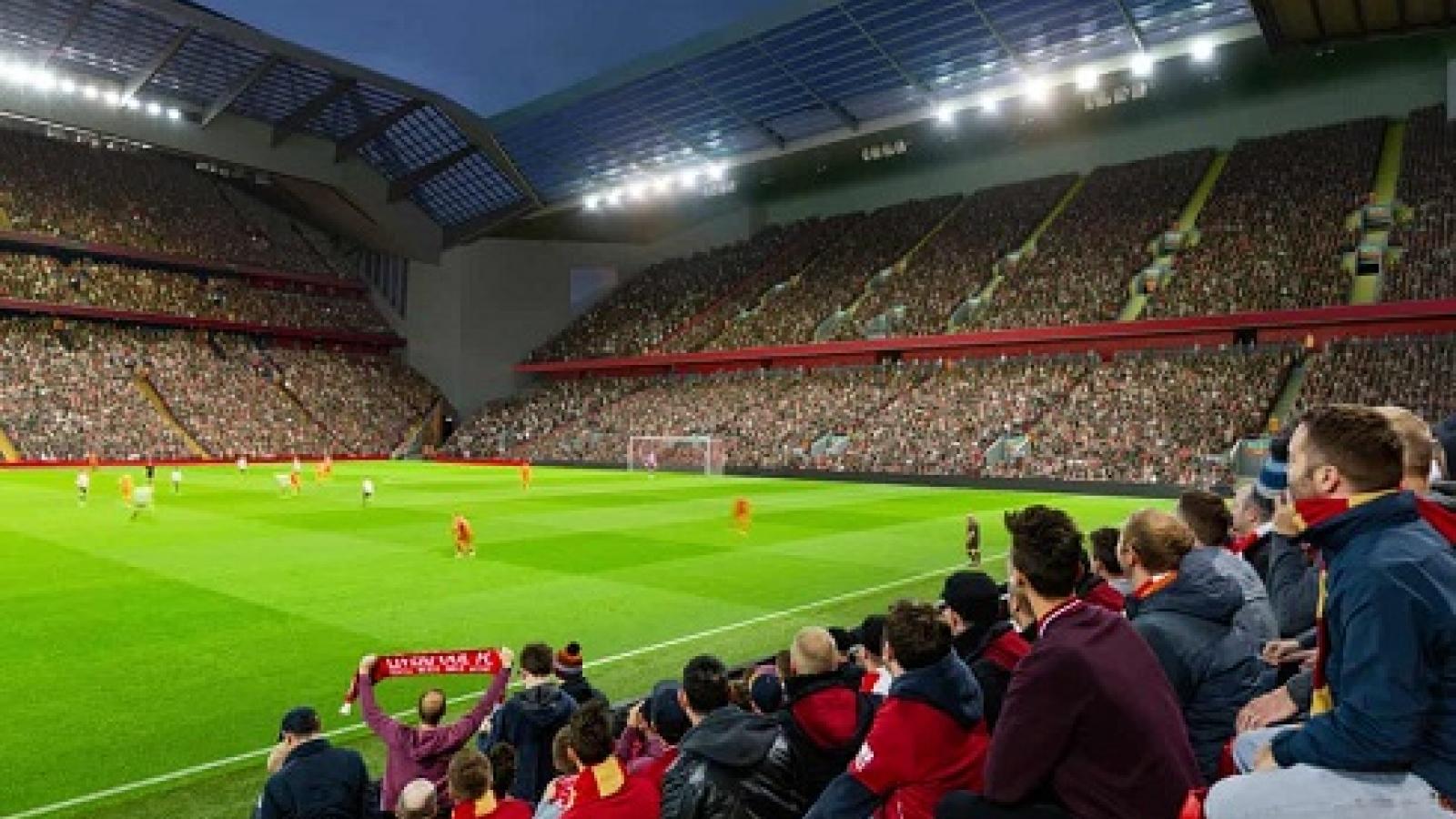 Liverpool hoãn kế hoạch nâng cấp sân Anfield vì Covid-19
