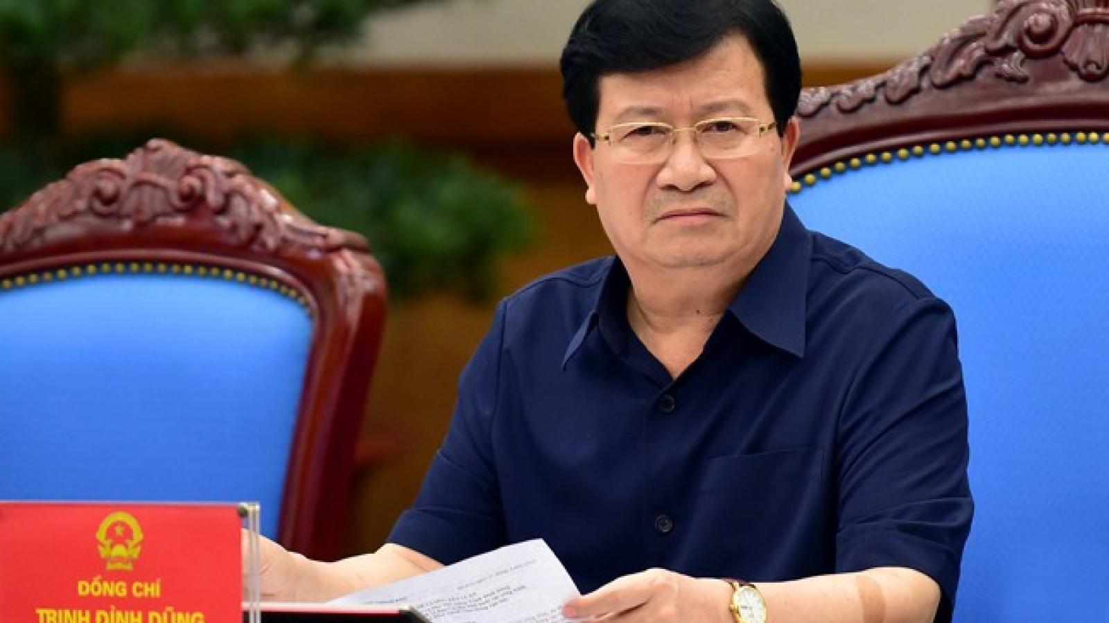 Phó Thủ tướng Trịnh Đình Dũng: Tạm ứng hạn ngạch 100.000 tấn gạo