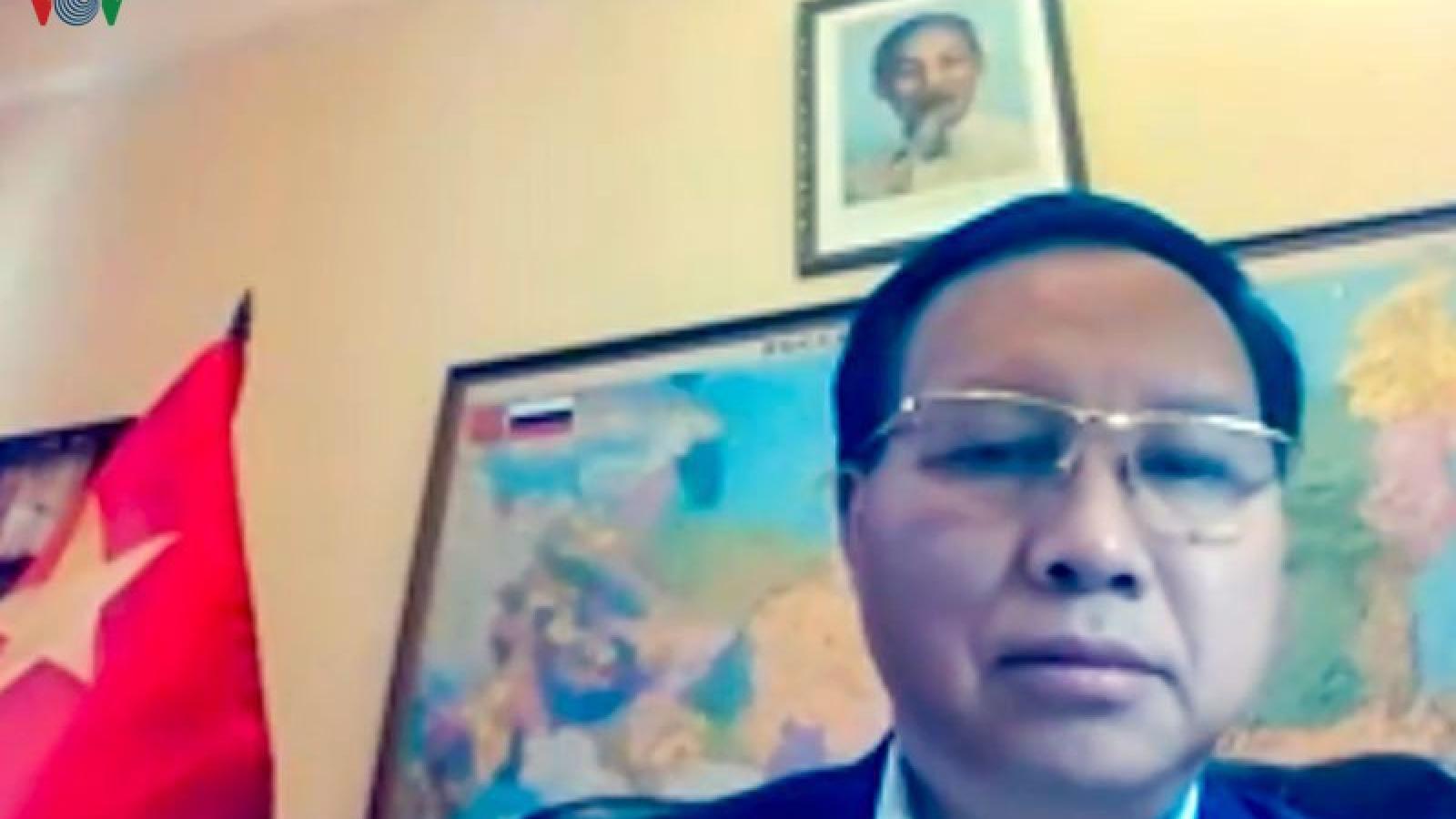 ĐSQ Việt Nam tại Nga tổ chức hội nghị trực tuyến chống dịch Covid-19