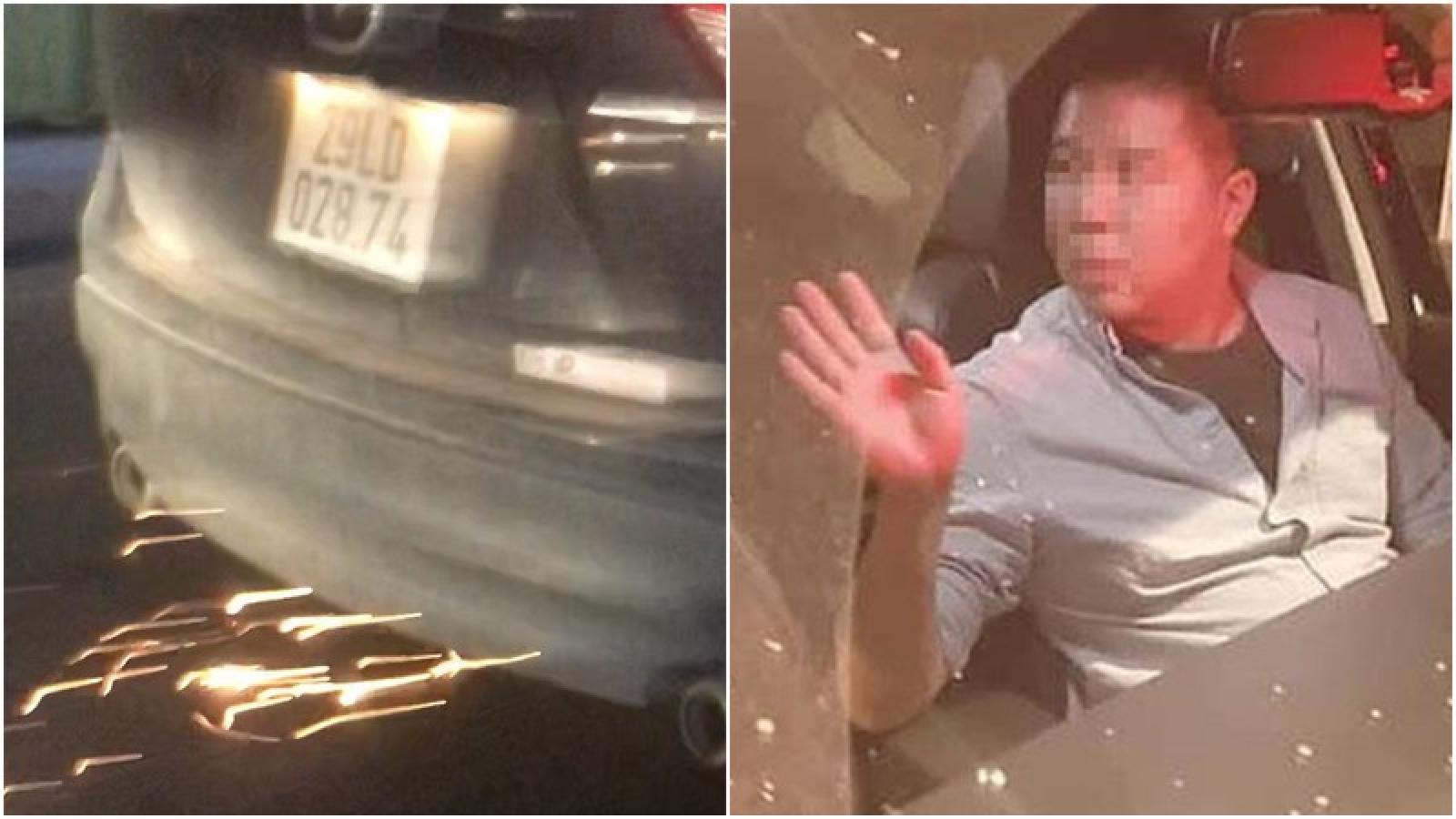 Người nước ngoài lái ô tô gây tai nạn liên hoàn rồi bỏ chạy ở Hà Nội