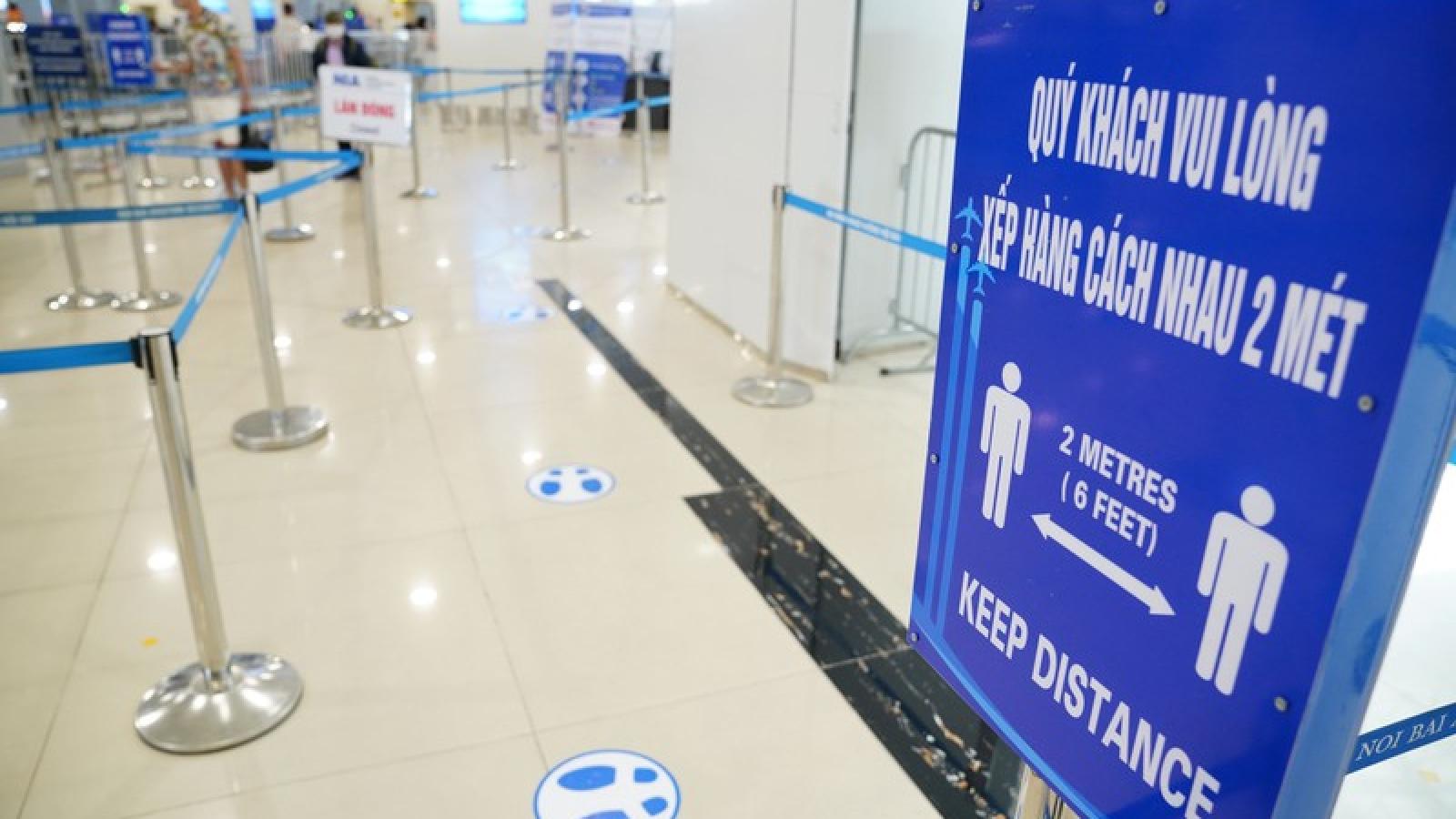 Sân bay Nội Bài khai thác an toàn sau nới lỏng cách ly xã hội