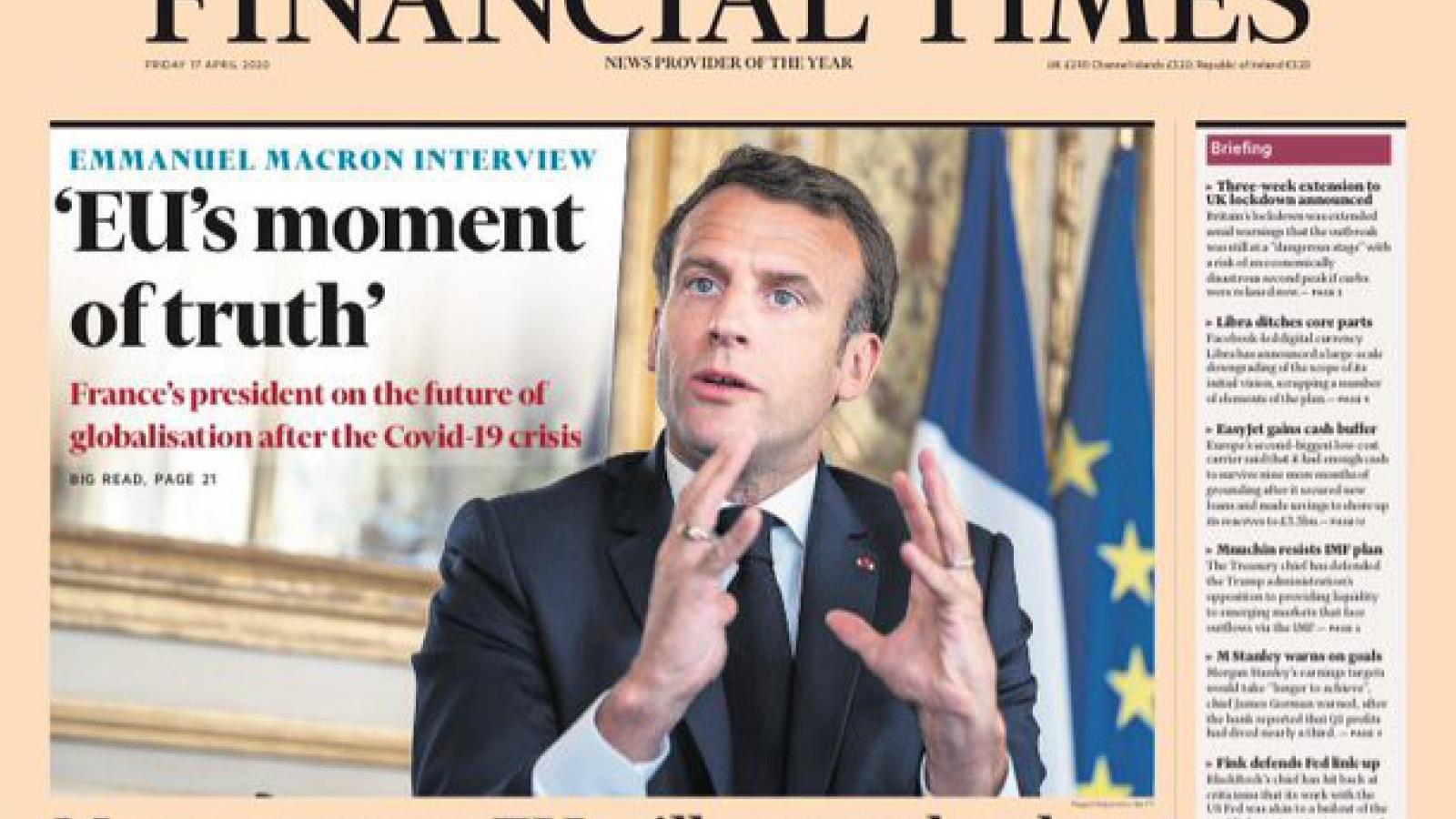 Tổng thống Pháp Macron nghi ngờ cách Trung Quốc chống Covid-19