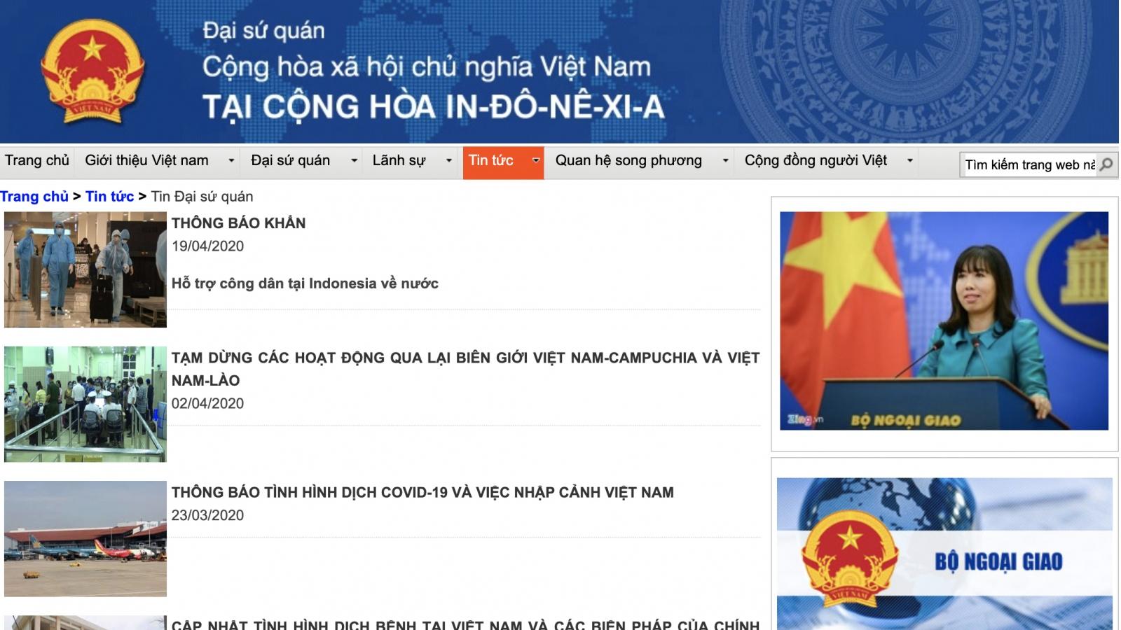 Khuyến cáo người Việt tại Indonesia đã đăng ký về nước