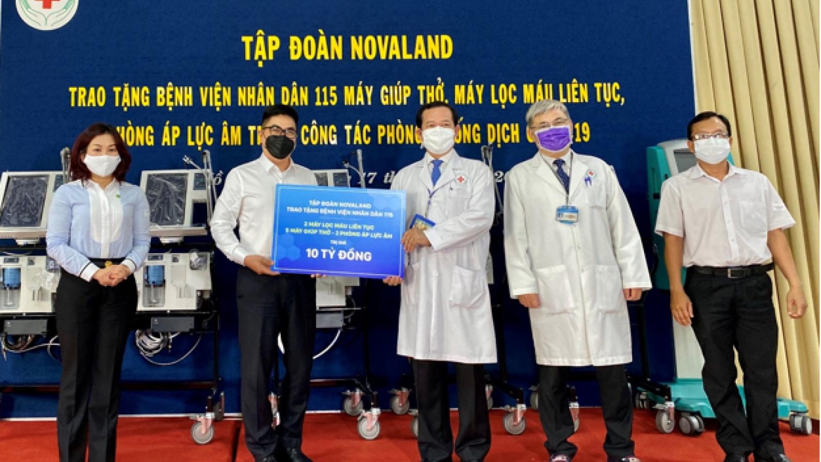 Novaland trao tặng thiết bị y tế tại Bệnh viện Nhân dân 115