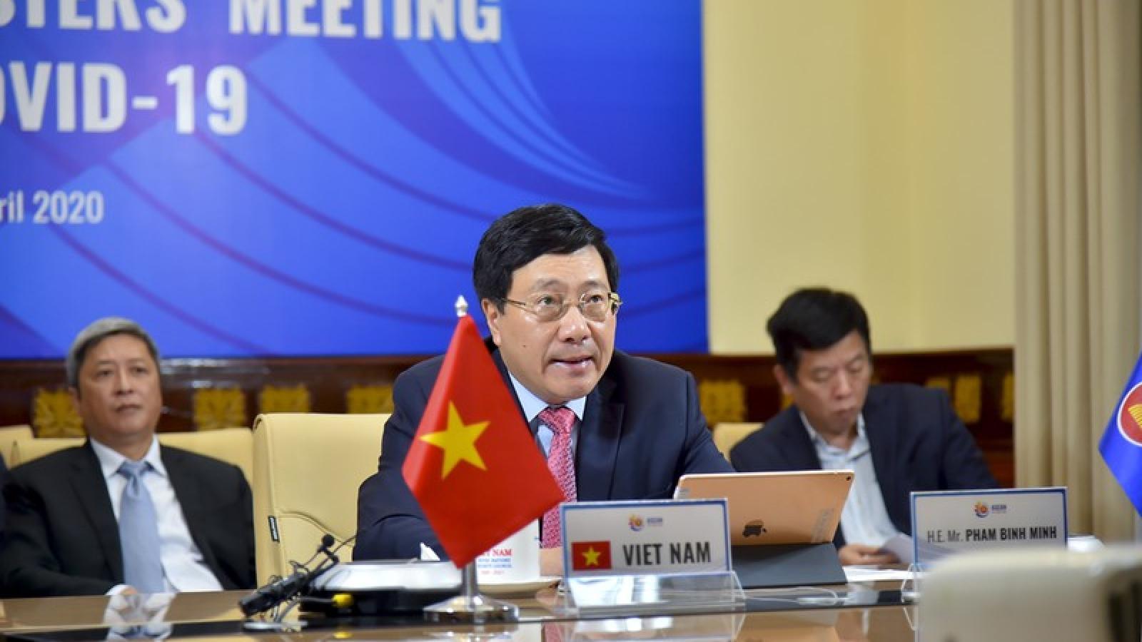 ASEAN - Mỹ họp Bộ trưởng Ngoại giao về hợp tác ứng phó dịch Covid-19