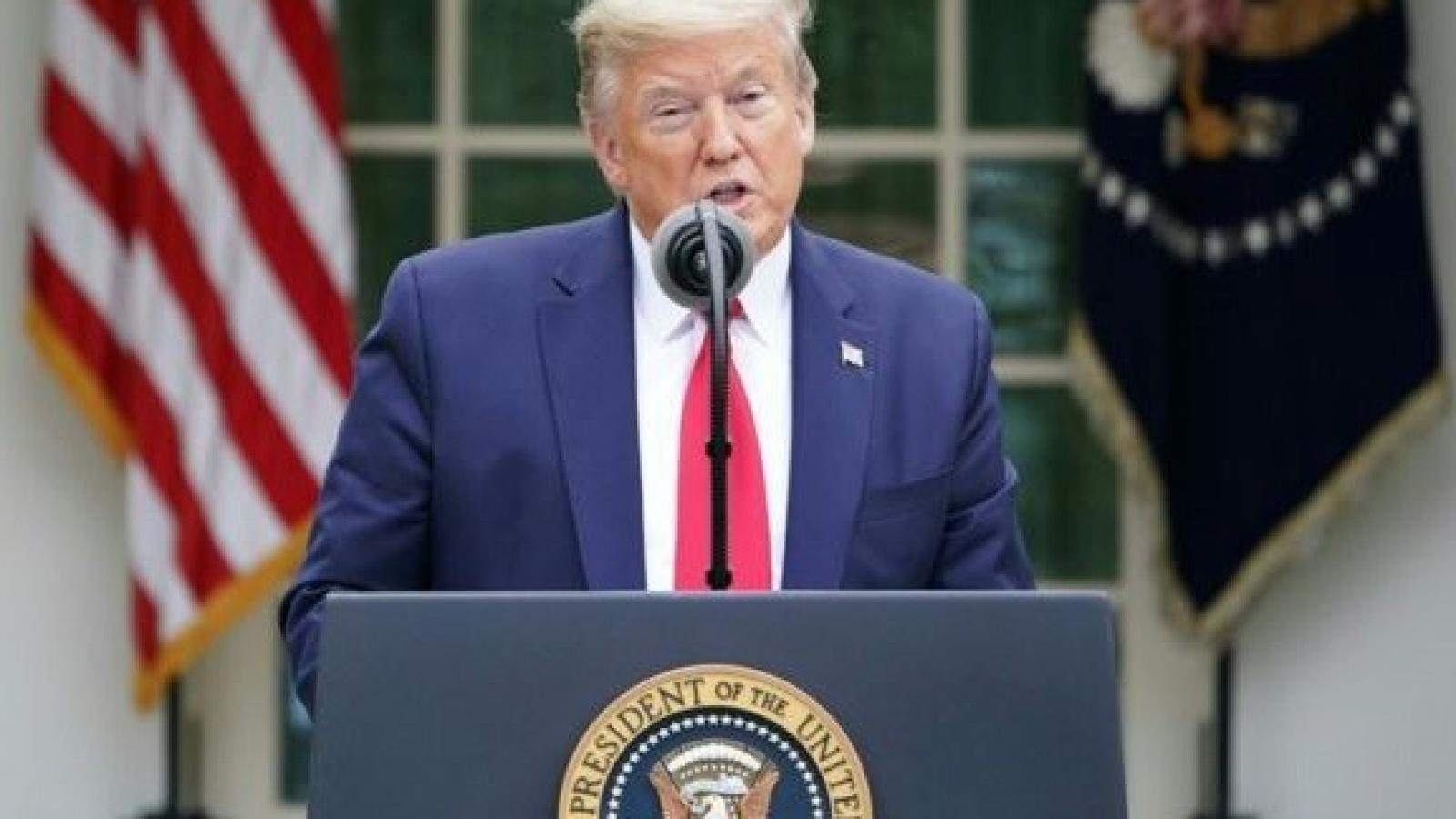 Ông Trump tuyên bố Mỹ tiếp tục tiến triển trong chống Covid-19