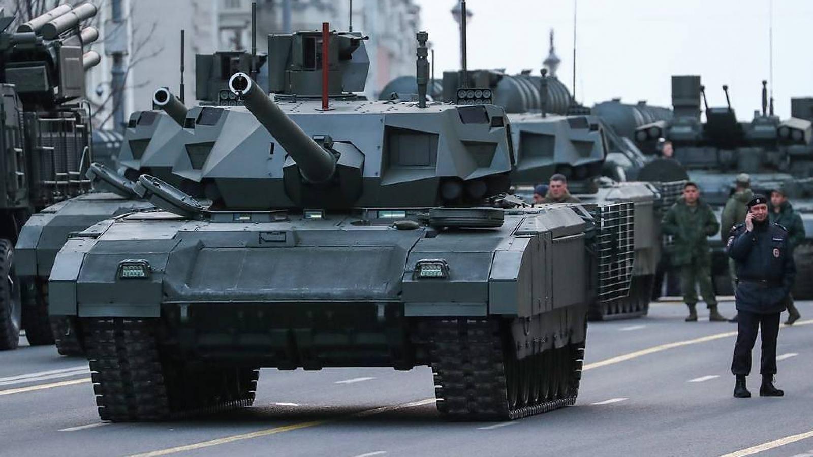 Nga thử nghiệm siêu tăng T-14 Armata ở chiến trường Syria