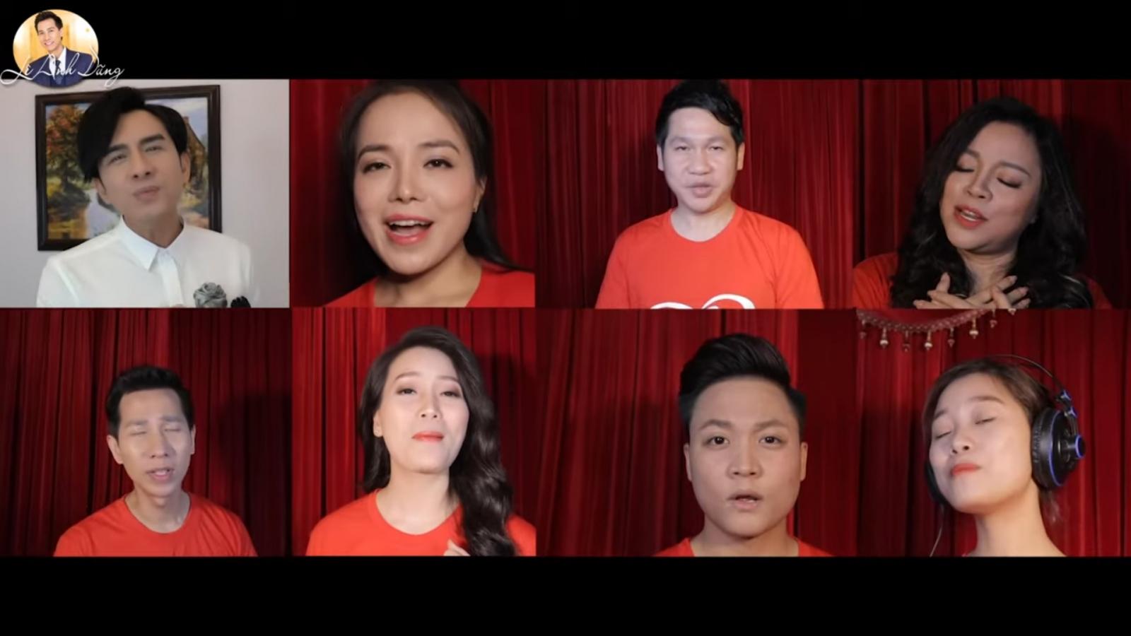Hơn 30 ca sĩ cùng hát trong MV sôi động cổ vũ chống dịch Covid-19