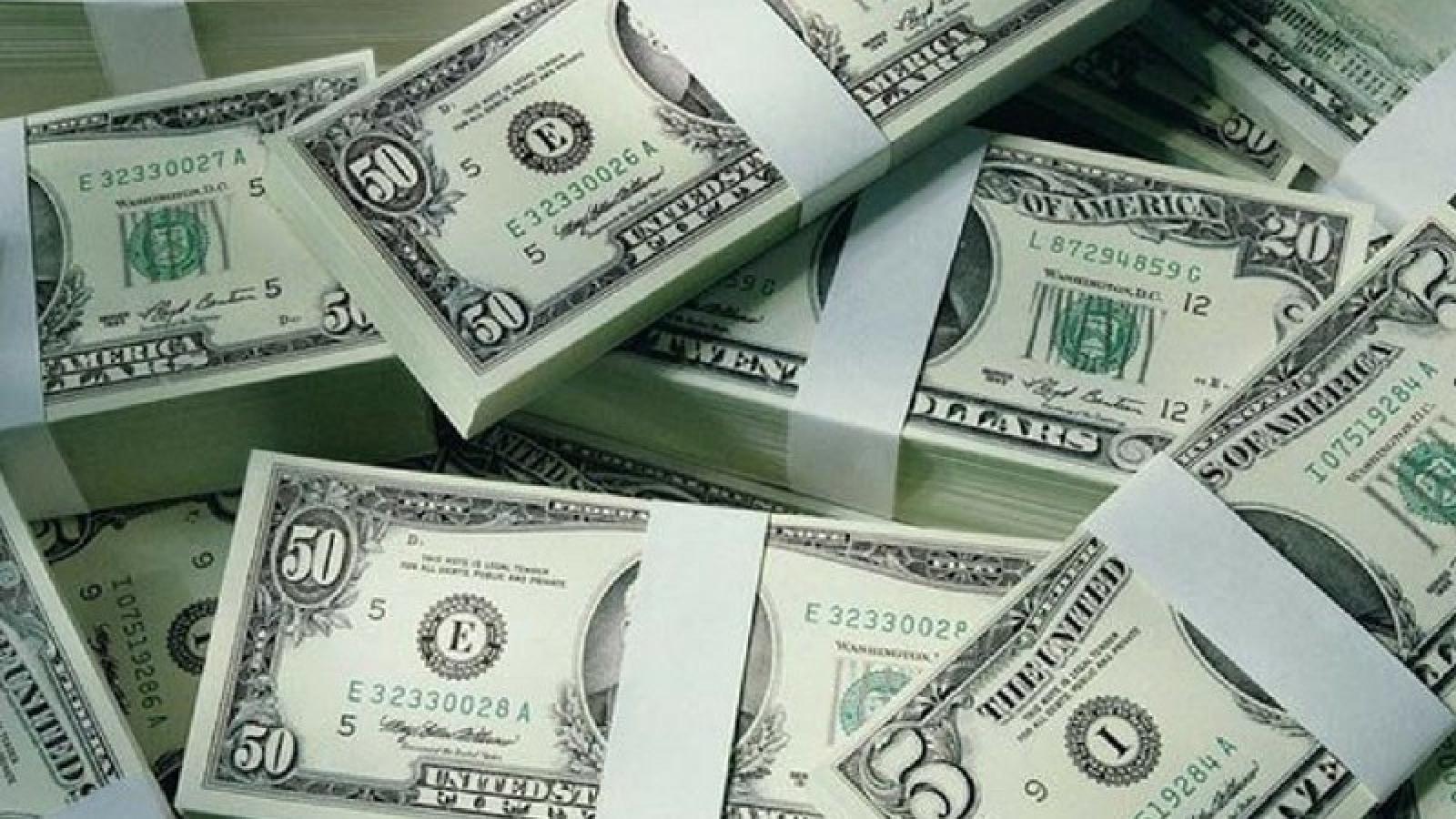Giá USD giảm tại các ngân hàng thương mại