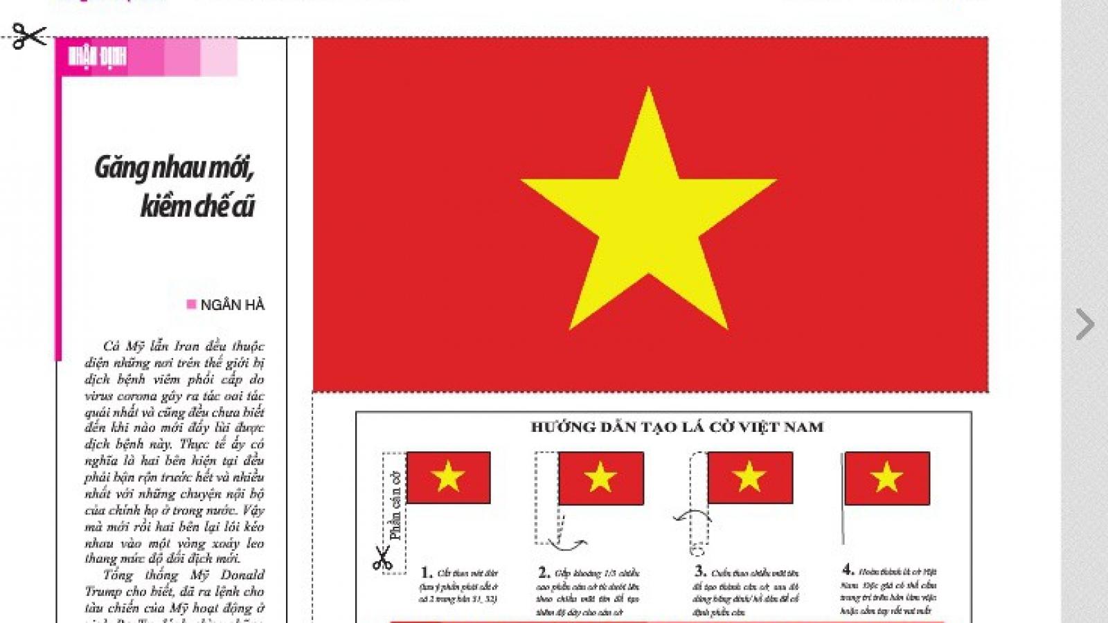 Lá cờ đặc biệt chào mừng 45 năm đất nước thống nhất
