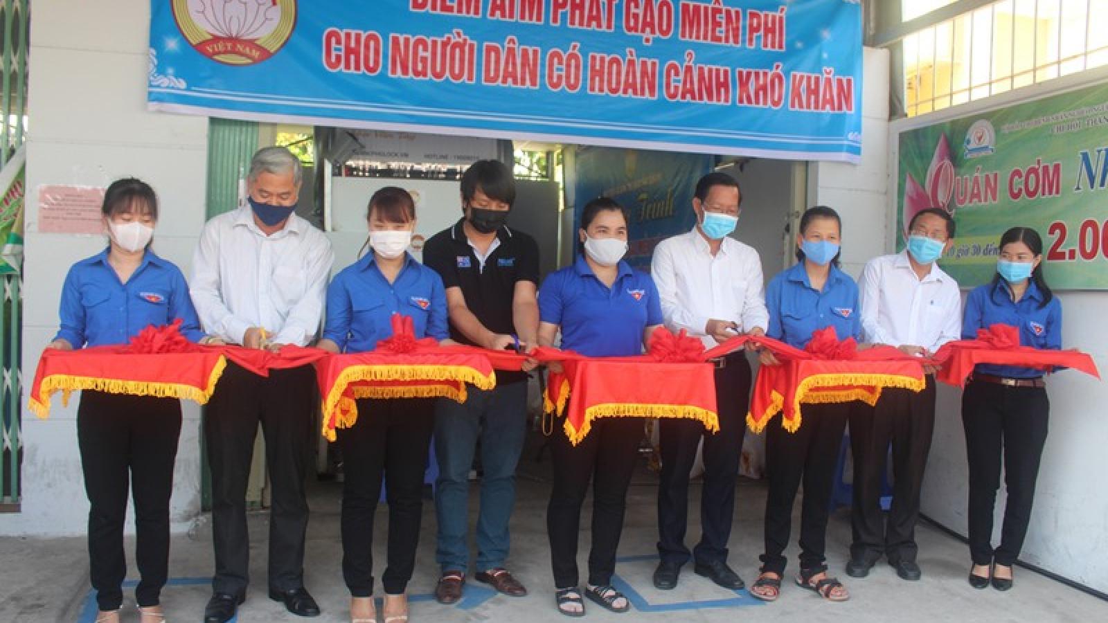 Bến Tre, Tiền Giang khai trương nhiều ATM gạo miễn phí cho người nghèo