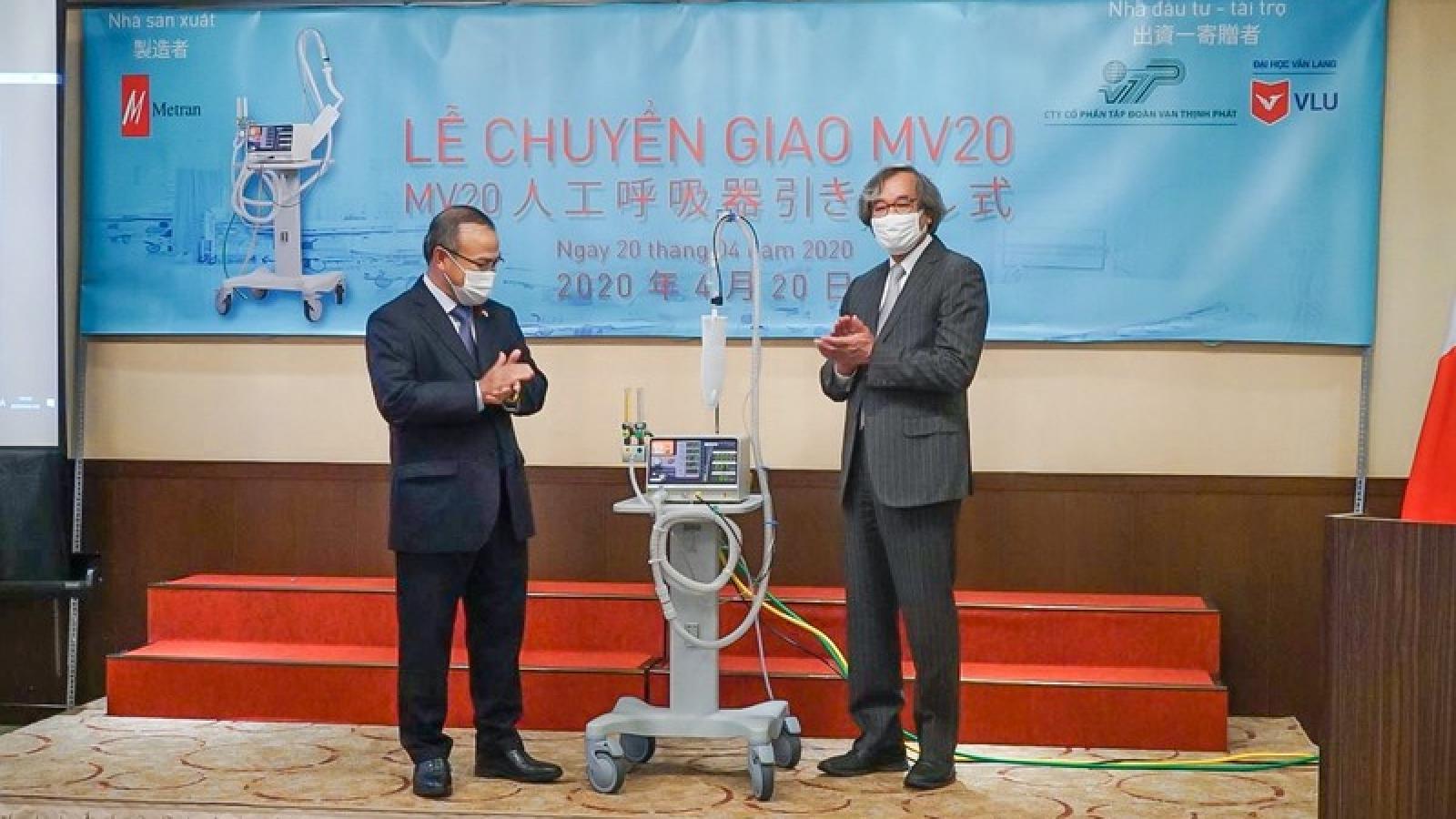 Trao tặng 2000 máy thở cho Việt Nam nhằm phòng chống Covid-19