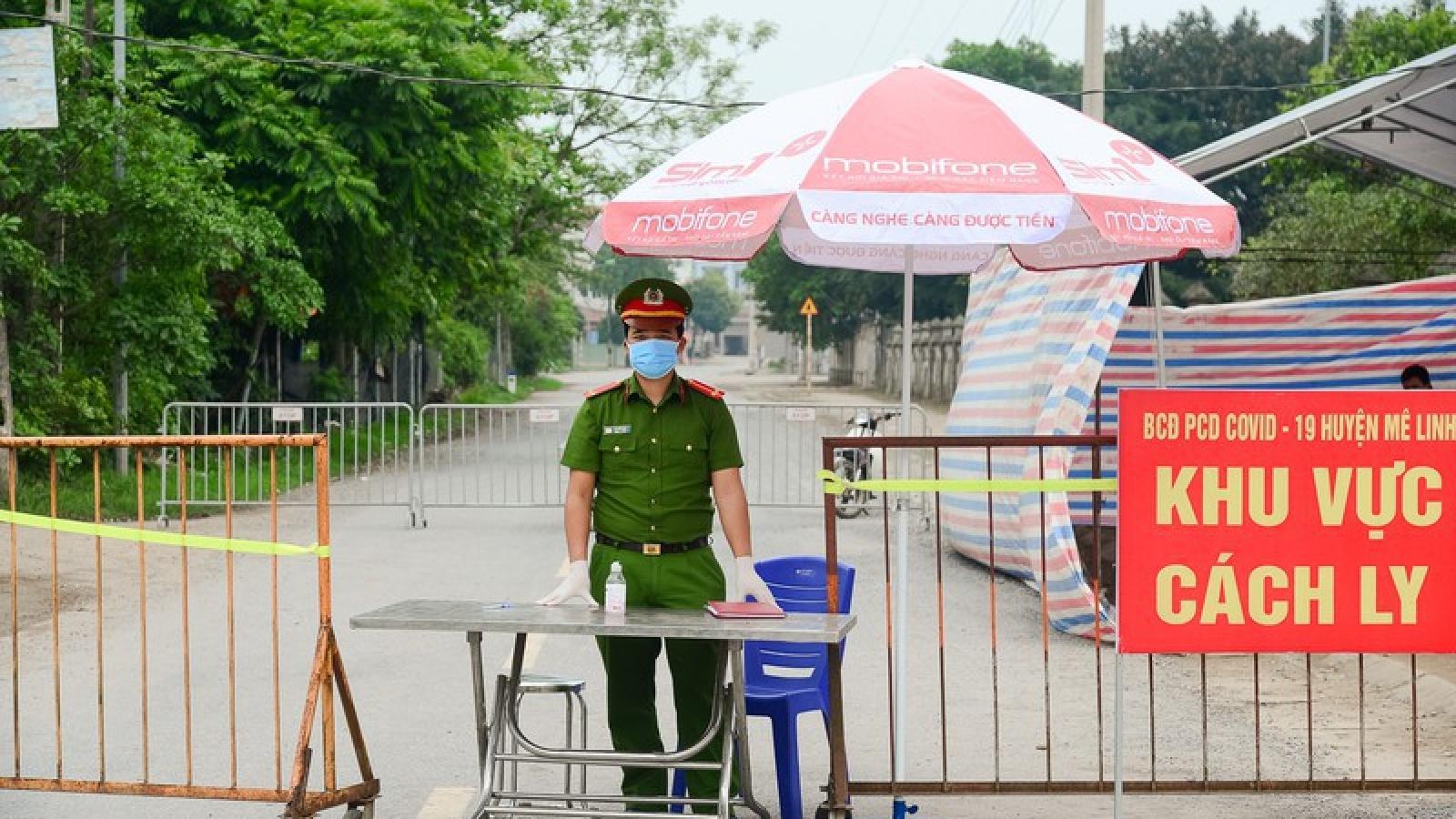 Ngày 5/5, ổ dịch Hạ Lôi ở Hà Nội đủ 28 ngày để dỡ bỏ phong tỏa