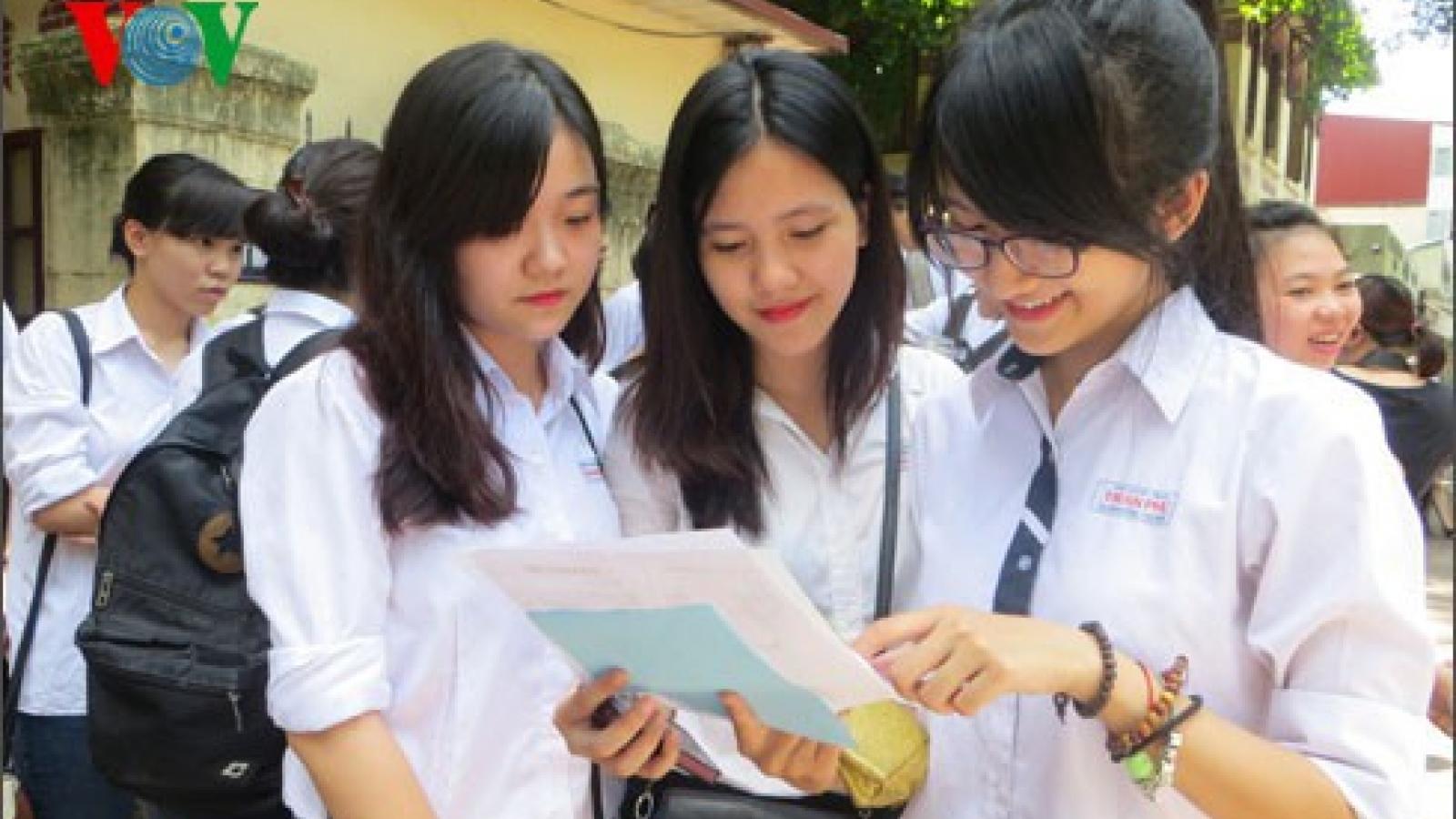 Hà Nội bỏ môn thi thứ 4 kỳ thi vào lớp 10, giảm áp lực cho học sinh