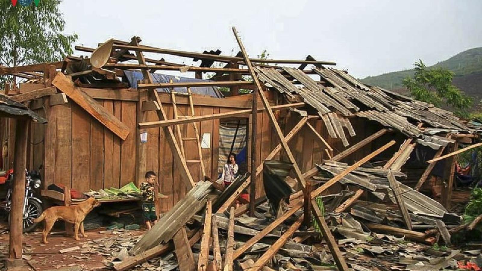 Yên Bái khẩn trương khắc phục thiệt hại do mưa lốc gây ra