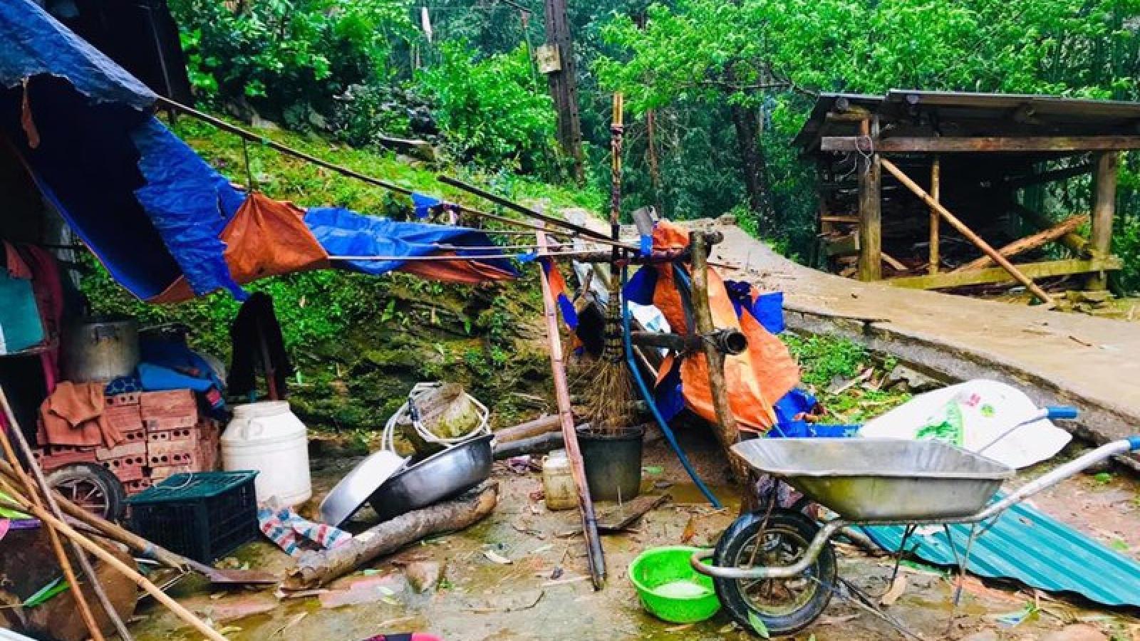 Mưa đá, giông lốc gây hại tại Mường Khương, Lào Cai