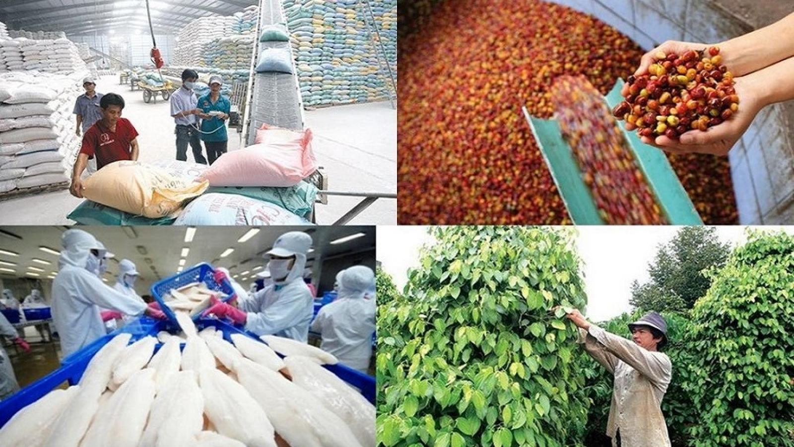 4 tháng đầu năm, nông lâm thủy sản xuất siêu 2,8 tỷ USD