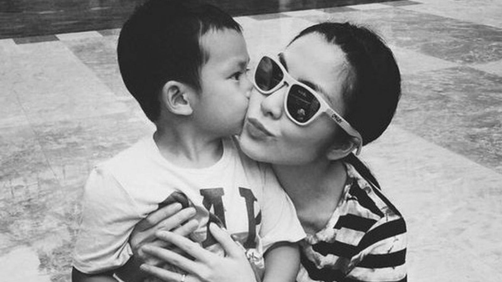 Tăng Thanh Hà mất ngủ vì làm bánh sinh nhật cho con trai