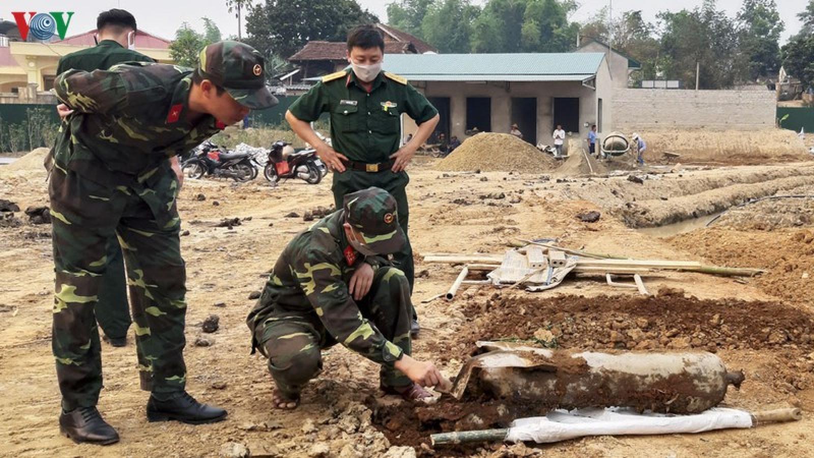 Hủy nổ thành công quả bom nặng hơn 100kg ở Điện Biên