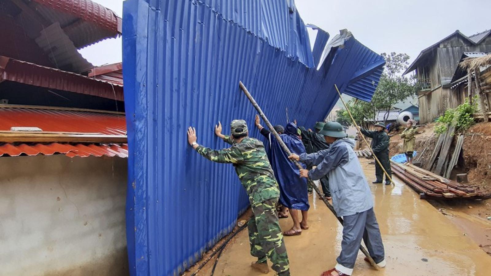 Điện Biên thiệt hại khoảng 18 tỷ đồng do ảnh hưởng của giông lốc