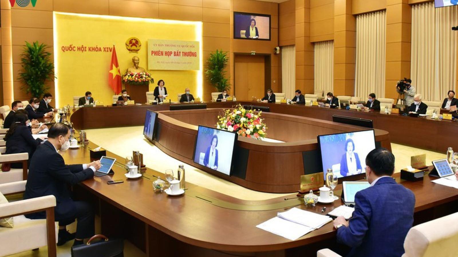 Thường vụ Quốc hội quyết nhiều nội dung quan trọng tại phiên họp 44