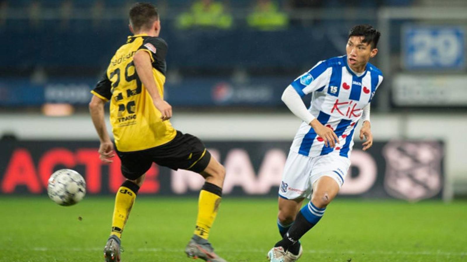 Nếu Heereveen không gia hạn, Đoàn Văn Hậu mất nốt cả lượt đi V-League 2020