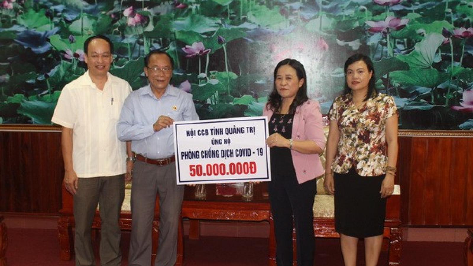 Quảng Trị tiếp nhận hơn 8,2 tỷ đồng ủng hộ phòng chống dịch