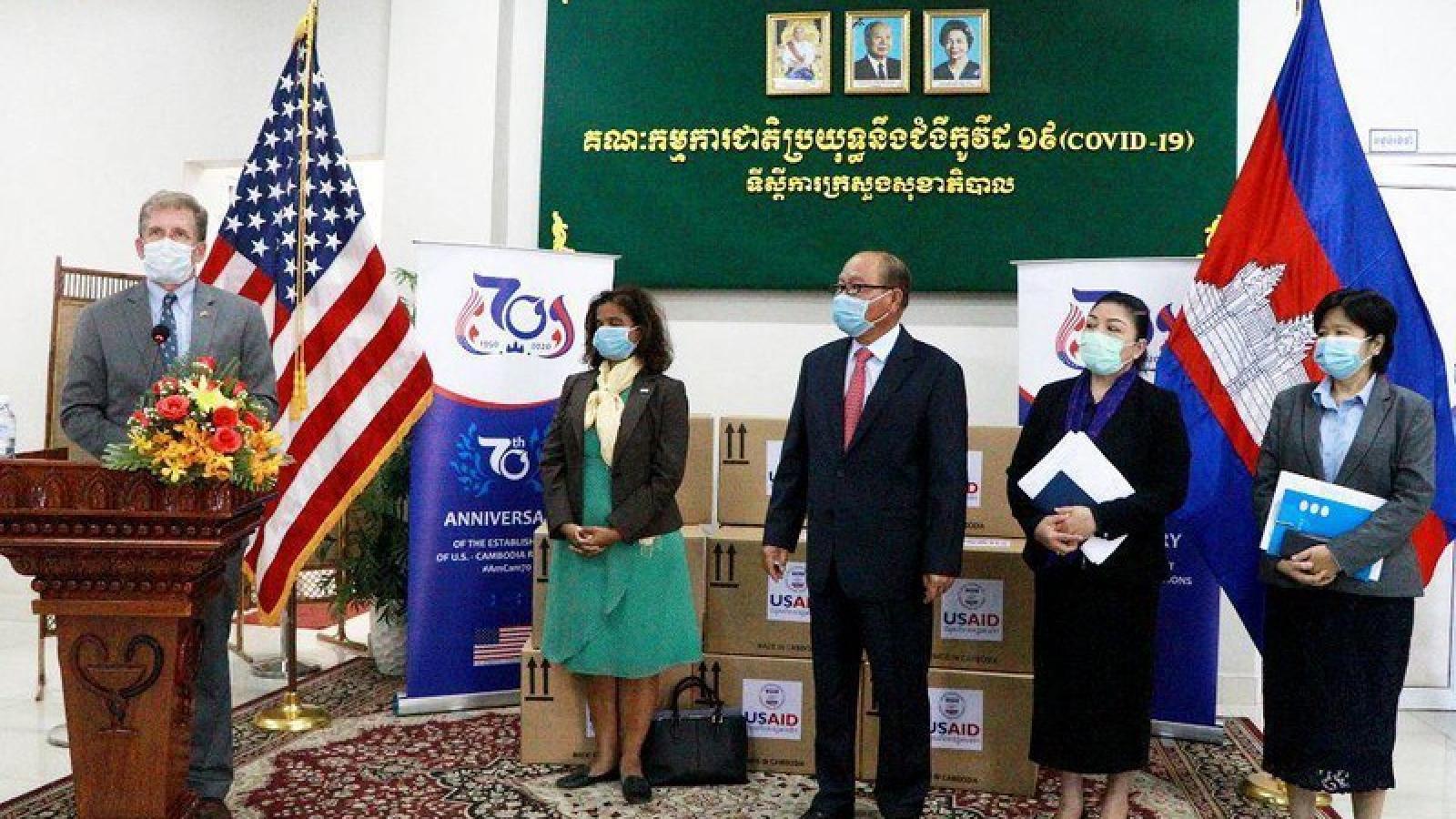 Mỹ viện trợ hơn 3,5 triệu USD hỗ trợ Campuchia phòng chống Covid-19