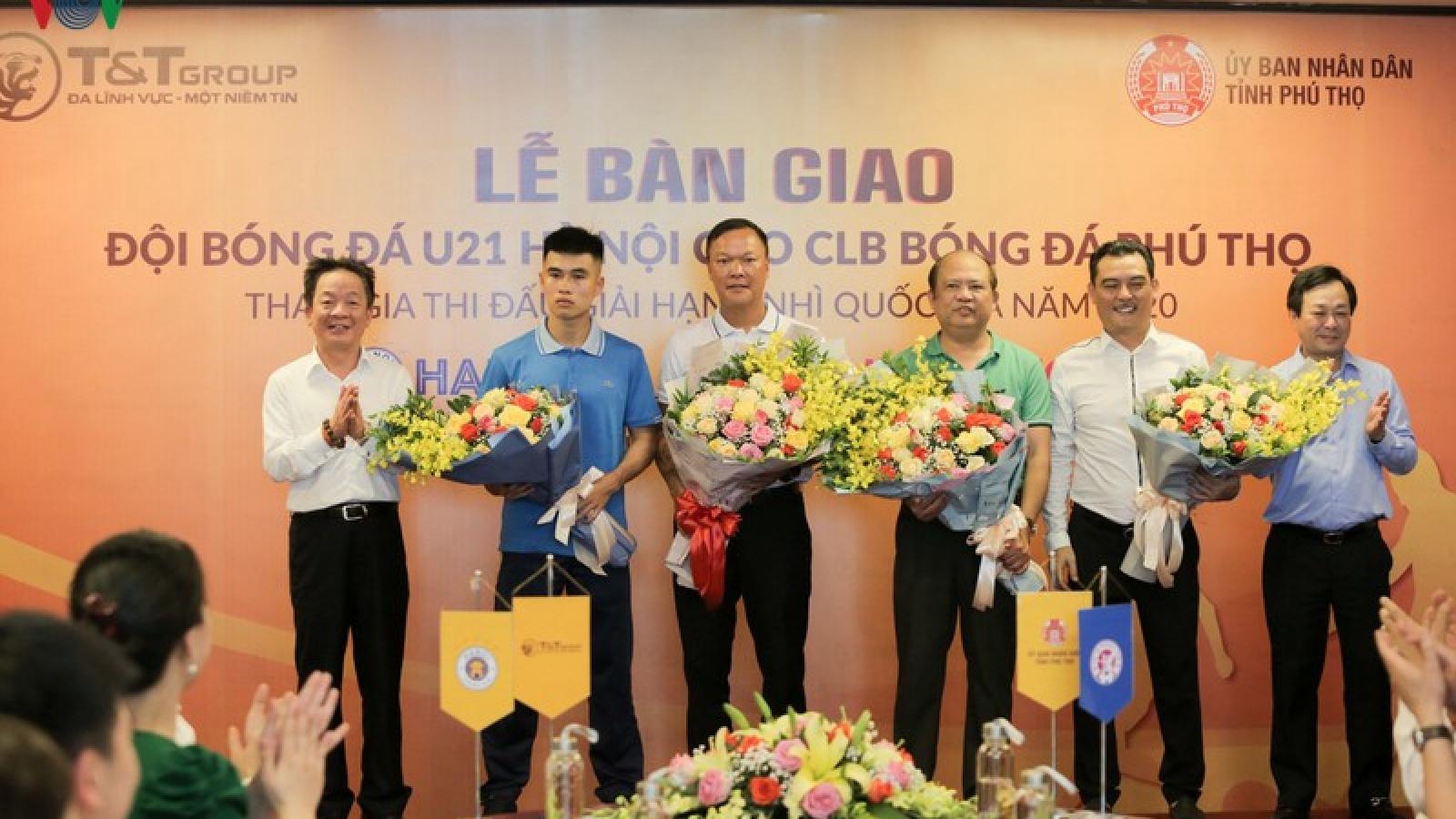 Đội U21 Hà Nội được chuyển giao cho Phú Thọ FC, hướng tới V-League