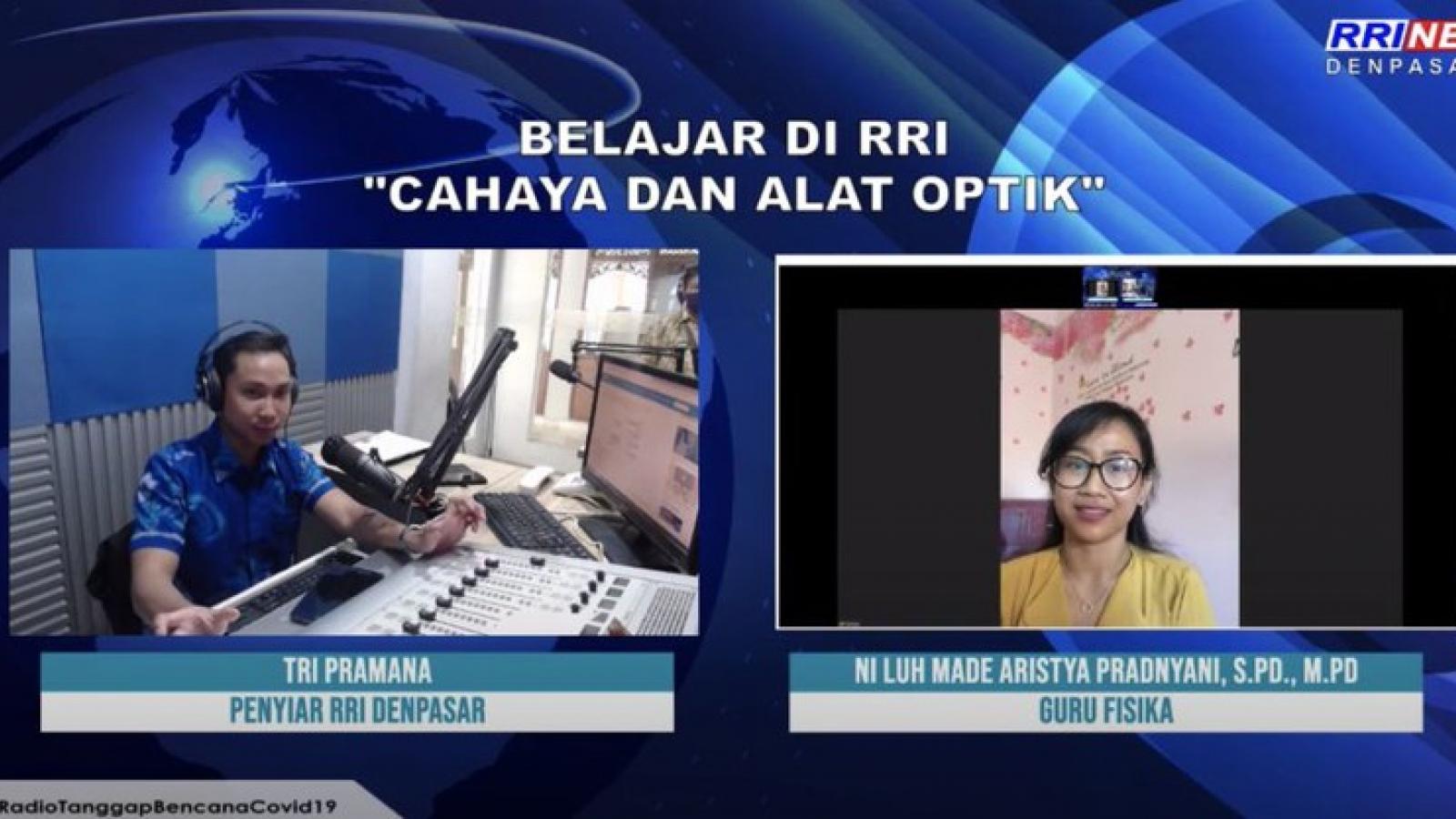 Lớp học Radio mùa Covid-19 của Đài phát thanh quốc gia Indonesia