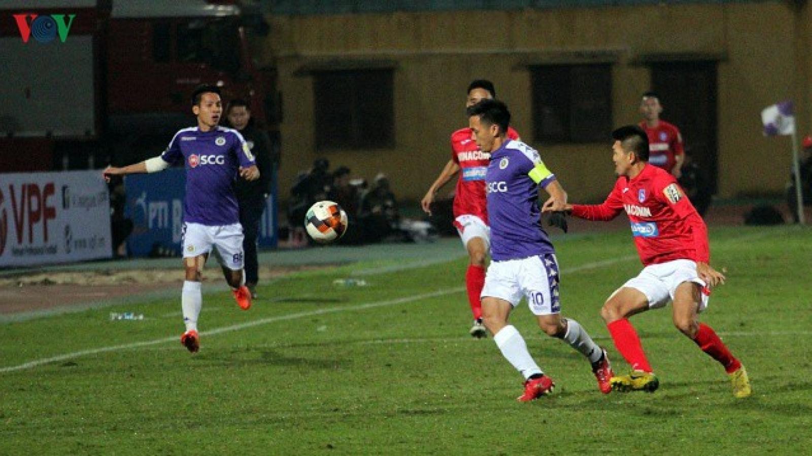 """Đá tập trước khi V-League trở lại: Hà Nội FC """"đè bẹp"""" Than Quảng Ninh"""