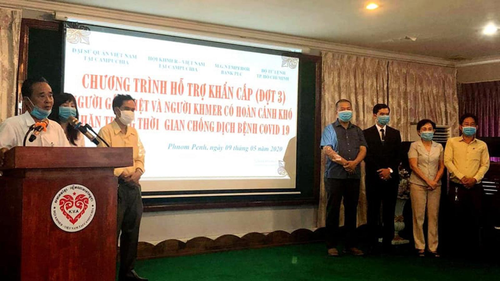 Chung tay hỗ trợ kiều bào tại Campuchia gặp khó khăn vì Covid-19