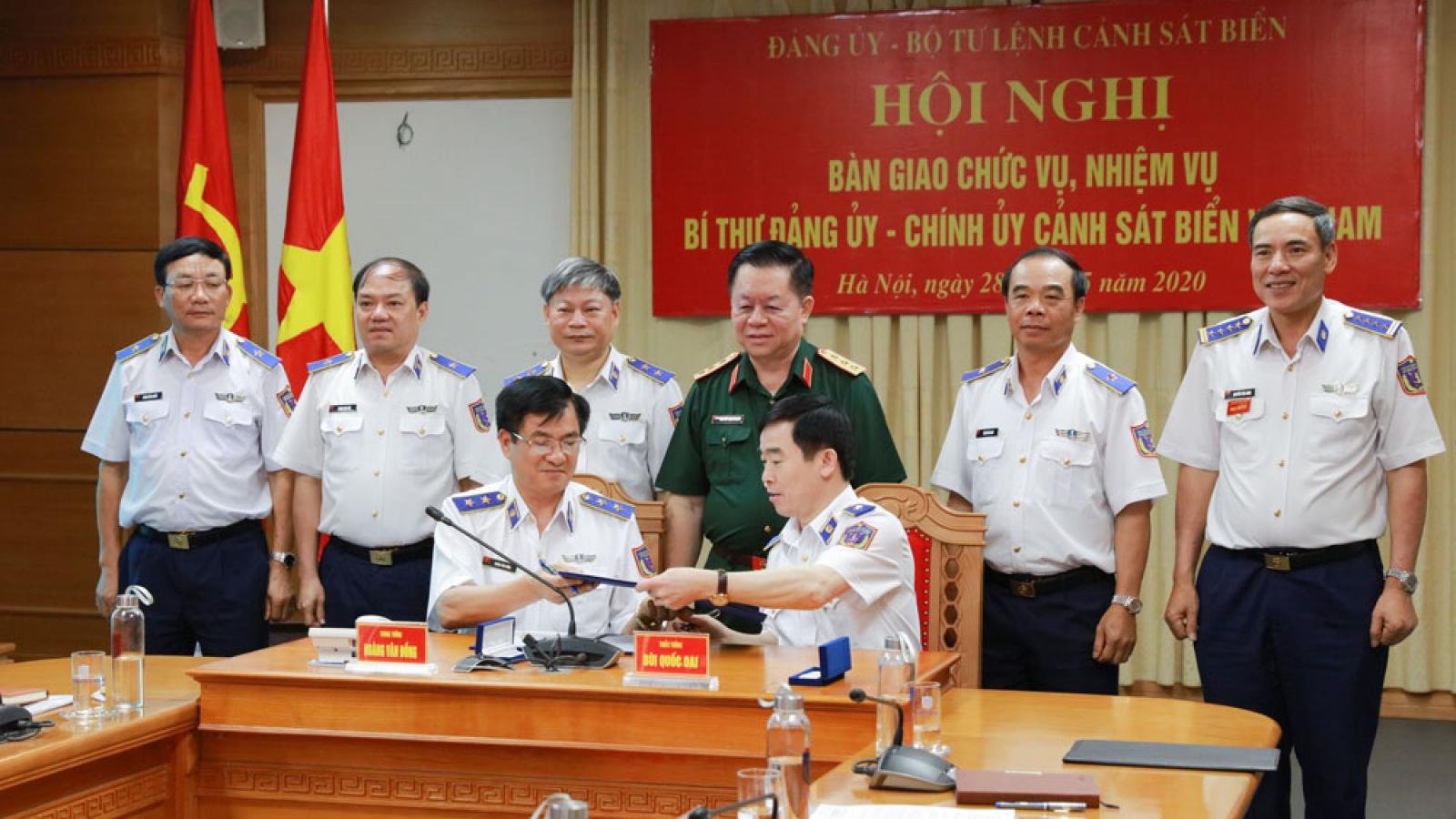 Bàn giao chức vụ, nhiệm vụ Chính ủy Cảnh sát biển