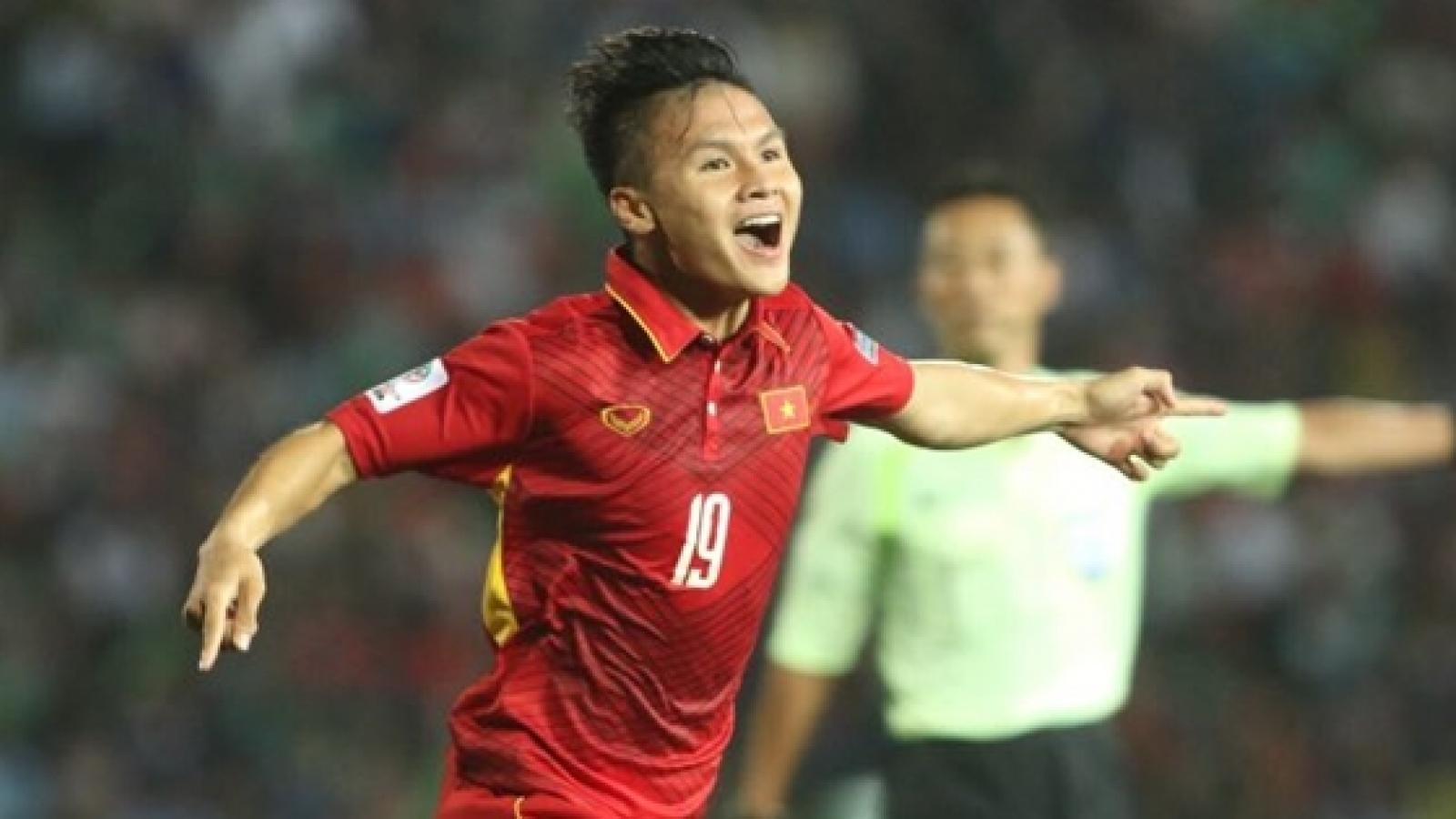 VIDEO: Bàn thắng đầu tiên của Quang Hải trong màu áo ĐT Việt Nam