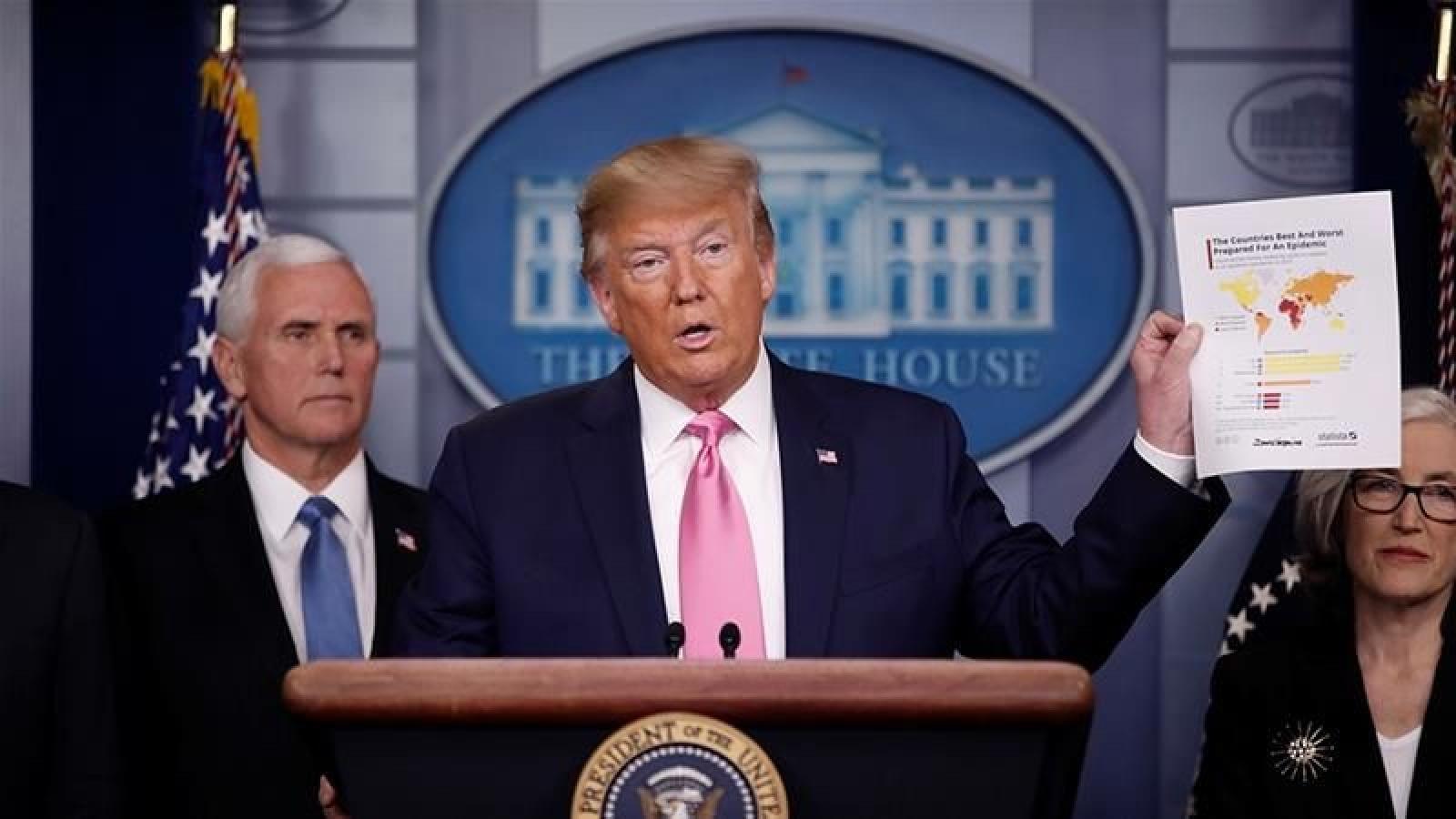 Tổng thống Trump hy vọng số ca tử vong do Covid-19 ở Mỹ dưới 100.000