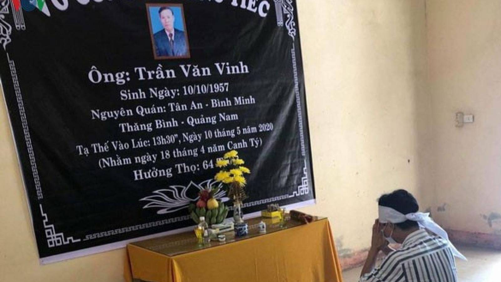 Thêm một trường hợp phải chịu tang bố trong khu cách ly ở Quảng Trị