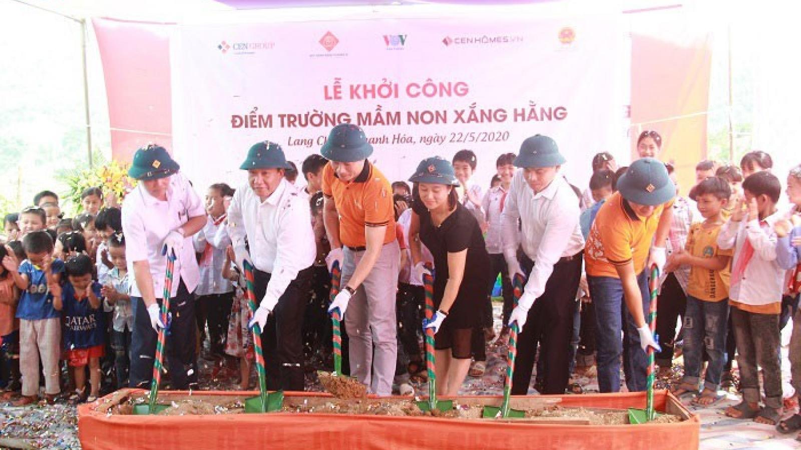 VOV khởi công xây dựng điểm trường mầm non Xắng Hằng, Thanh Hoá