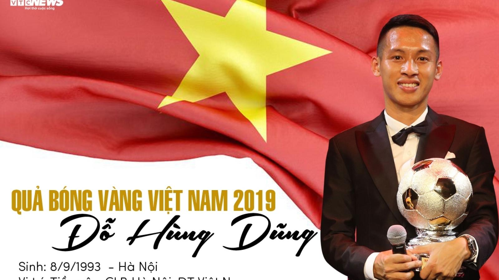 Infographics: Quả bóng Vàng Việt Nam 2019 Đỗ Hùng Dũng