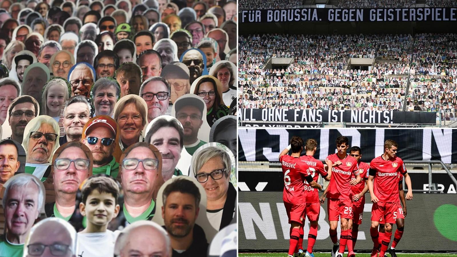 Đội bóng Bundesliga phủ kín khán đài bằng 13.000 bìa ảnh CĐV
