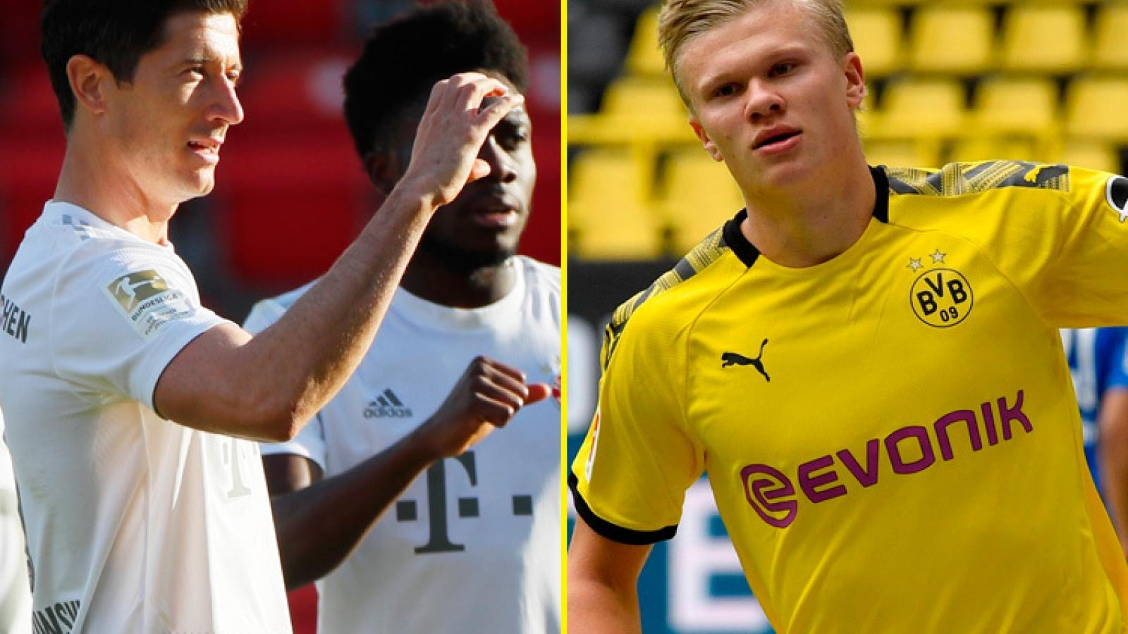 Đội hình hay nhất Bundesliga cuối tuần qua: Haaland đá cặp Lewandowski