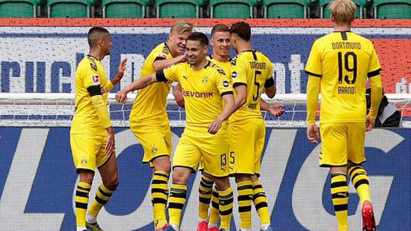 Haaland im tiếng, Dortmund vẫn đả bại Wolfsburg