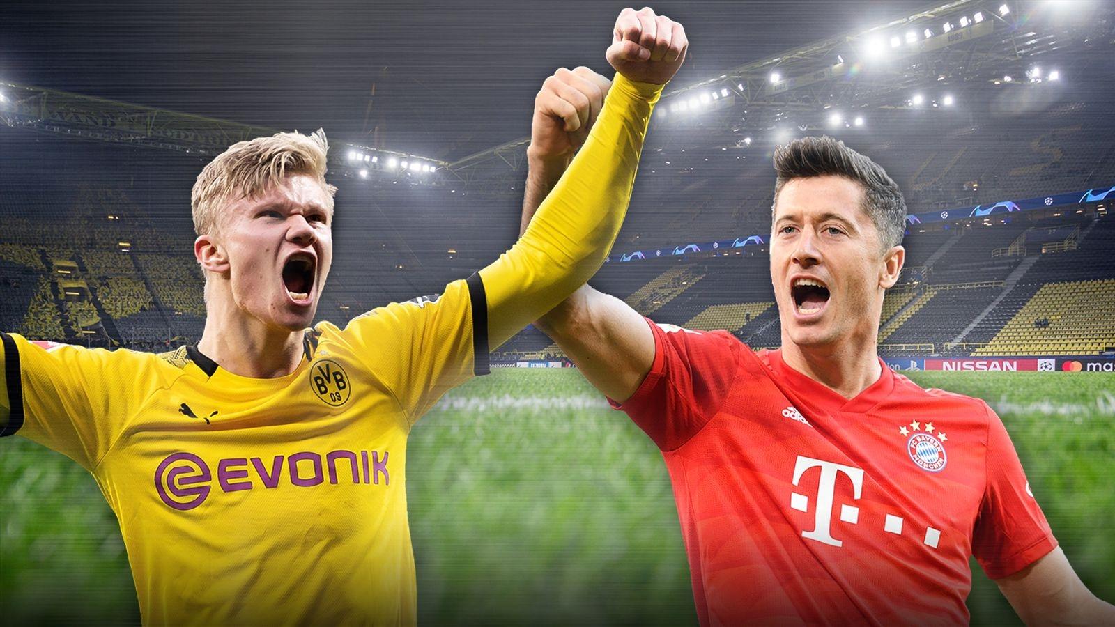 Dortmund - Bayern Munich: Haaland so găng Lewandowski ở Der Klassiker