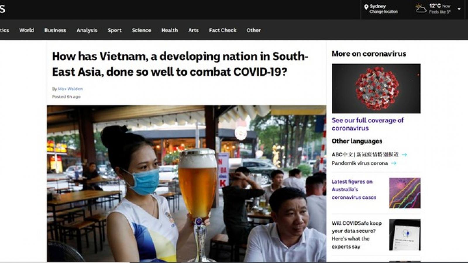Báo Australia lý giải nguyên nhân Việt Nam chống Covid-19 hiệu quả