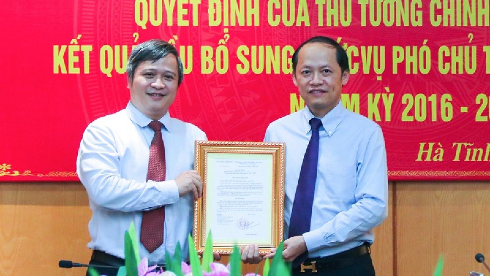 Thủ tướng phê chuẩn kết quả bầu Phó Chủ tịch UBND tỉnh Hà Tĩnh
