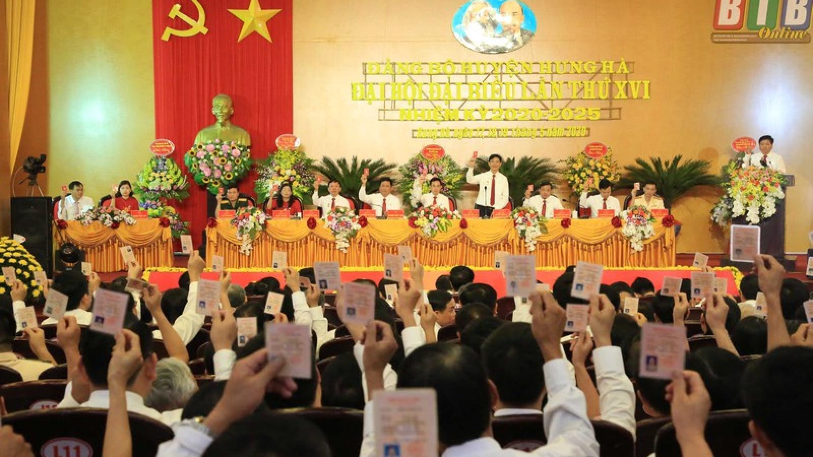 Thái Bình hoàn thành đại hội đảng bộ cơ sở sớm hơn kế hoạch 1 tháng