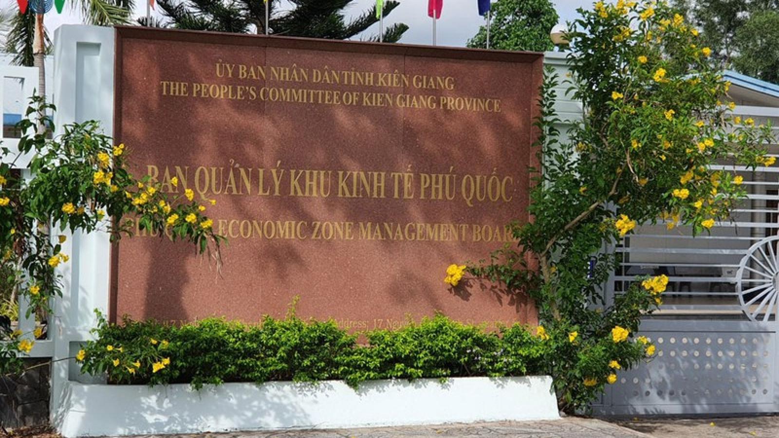 Sai phạm ở BQL Khu kinh tế Phú Quốc, tỉnh chỉ đạo khắc phục ra sao?
