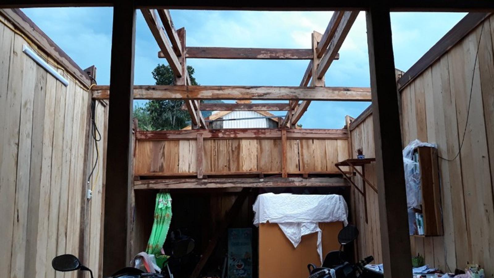 Gió lốc gây thiệt hại nặng nề ở huyện Nậm Nhùn, Lai Châu