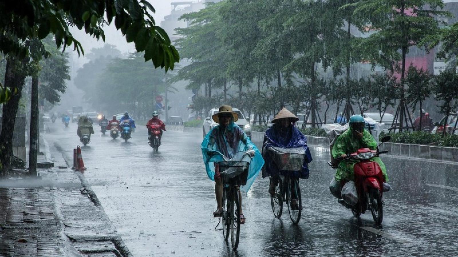 Dự báo thời tiết ngày 14/5: Hà Nội tiếp tục có mưa dông