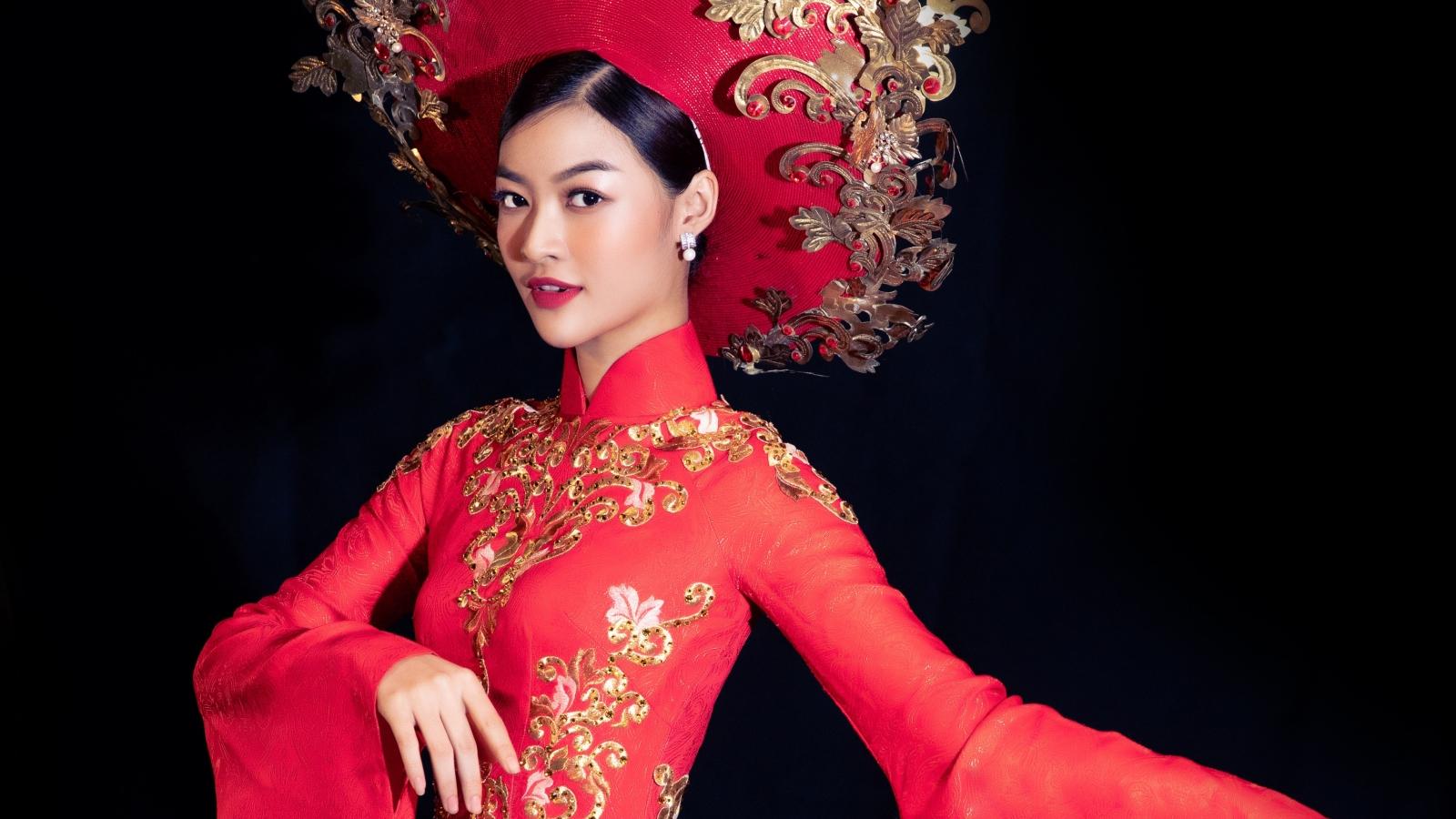 Á hậu Kiều Loan diện lại trang phục dân tộc của Á hậu Huyền My