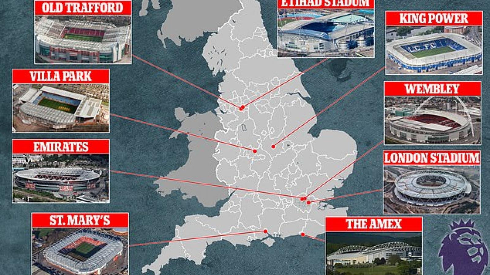 Premier League đá sân trung lập: Old Trafford được chọn, Anfield bị gạch tên